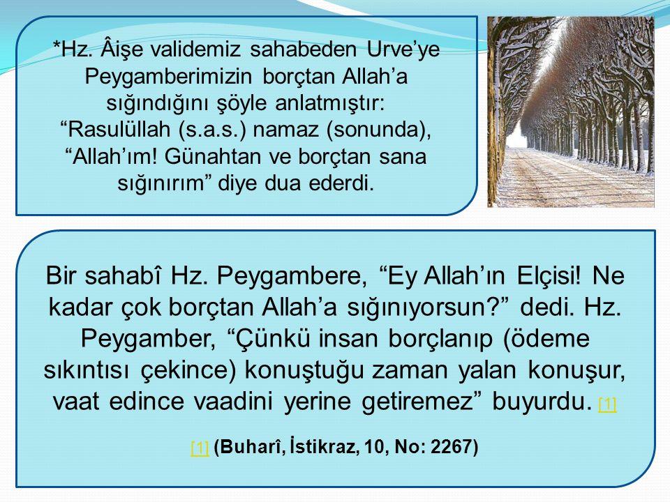 [1] (Buharî, İstikraz, 10, No: 2267)